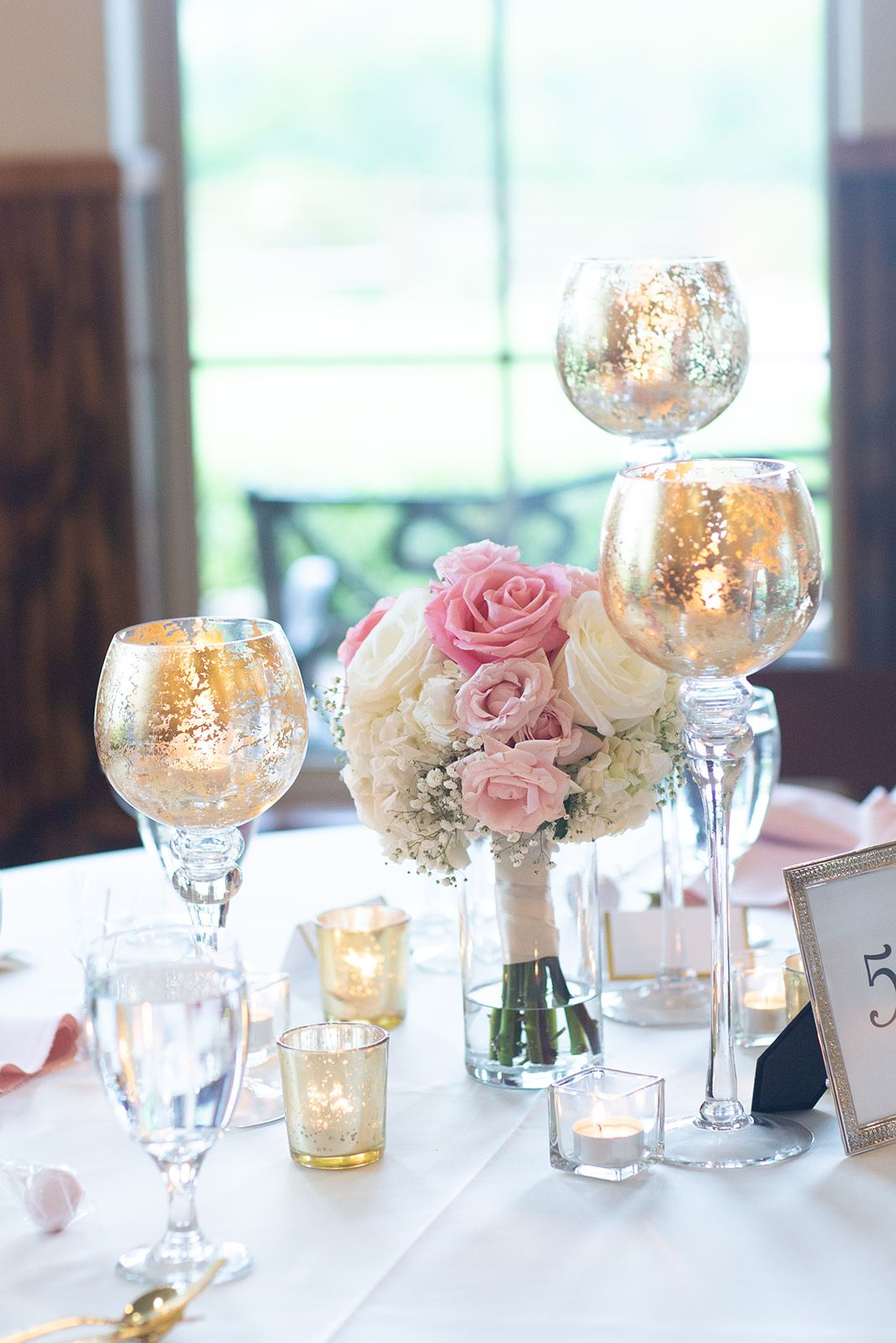 Wedding decorations gold and pink  Tuscany Hill  Wedding Ceremony u Reception Hall  wedding decor