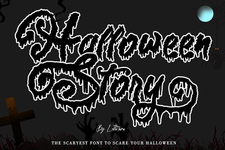 Halloween story 353315 halloween font bundles in