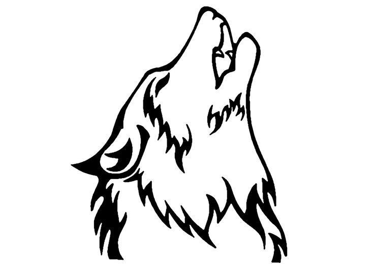 Silueta Lobo: Cabeza De Lobo Tribal Scout - Buscar Con Google