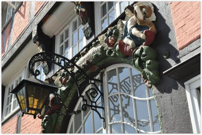 OSNABRUECK (GERMANY): Rich decorated houses witness the prosperity of the former hanseatic city.