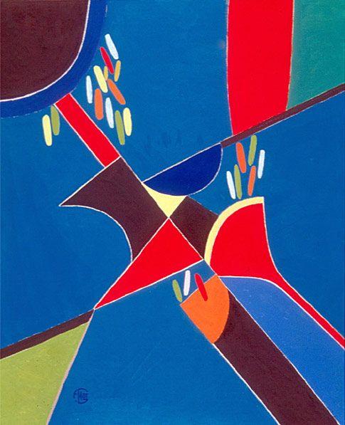 Dark Moon, 2002. By Françoise Gilot (France, born 1921). Oil on canvas.