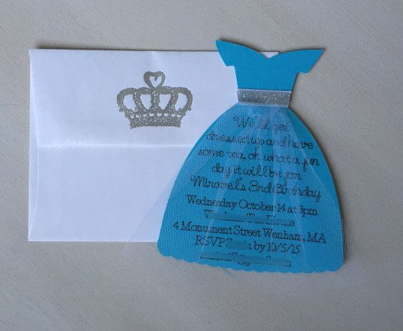 Halloween Geburtstagsparty Einladung Princess Dress Invitation Elsa Invitation Frozen By