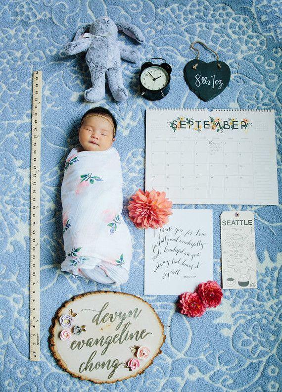 Baby girl birth announcement