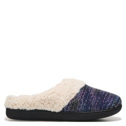 Youll wanna blog about the Novelty Knit Clog Memory Foam Slipper from Dearfoams.  Patterned sweater knit soft yarn upper in a slipper style Faux shearling cuff Machine washable Faux shearling lining and memory foam cushioned insole TPR outsole with indoor/outdoor tread