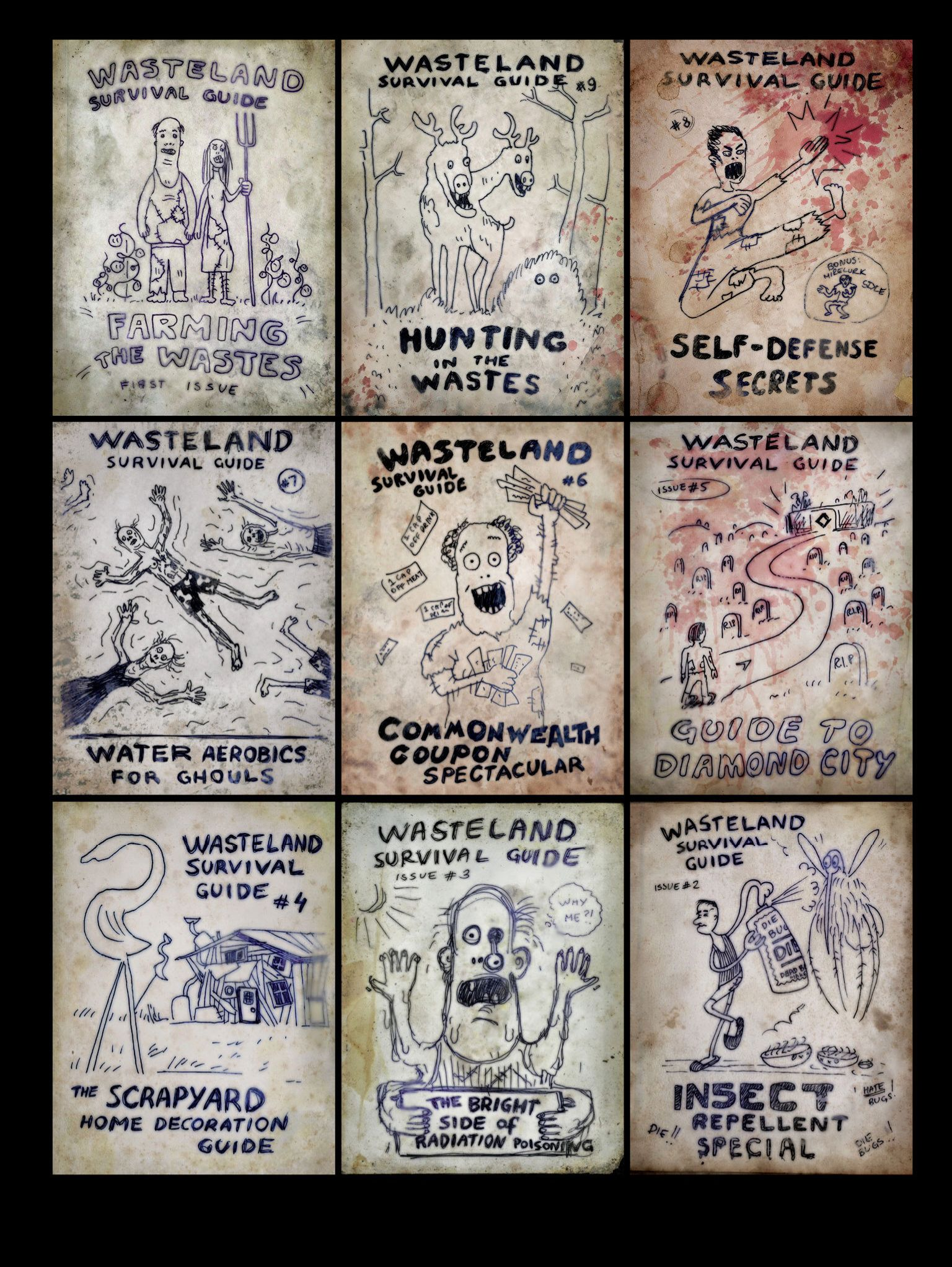 fallout 4 concept wasteland survival guide magazine fallout 4