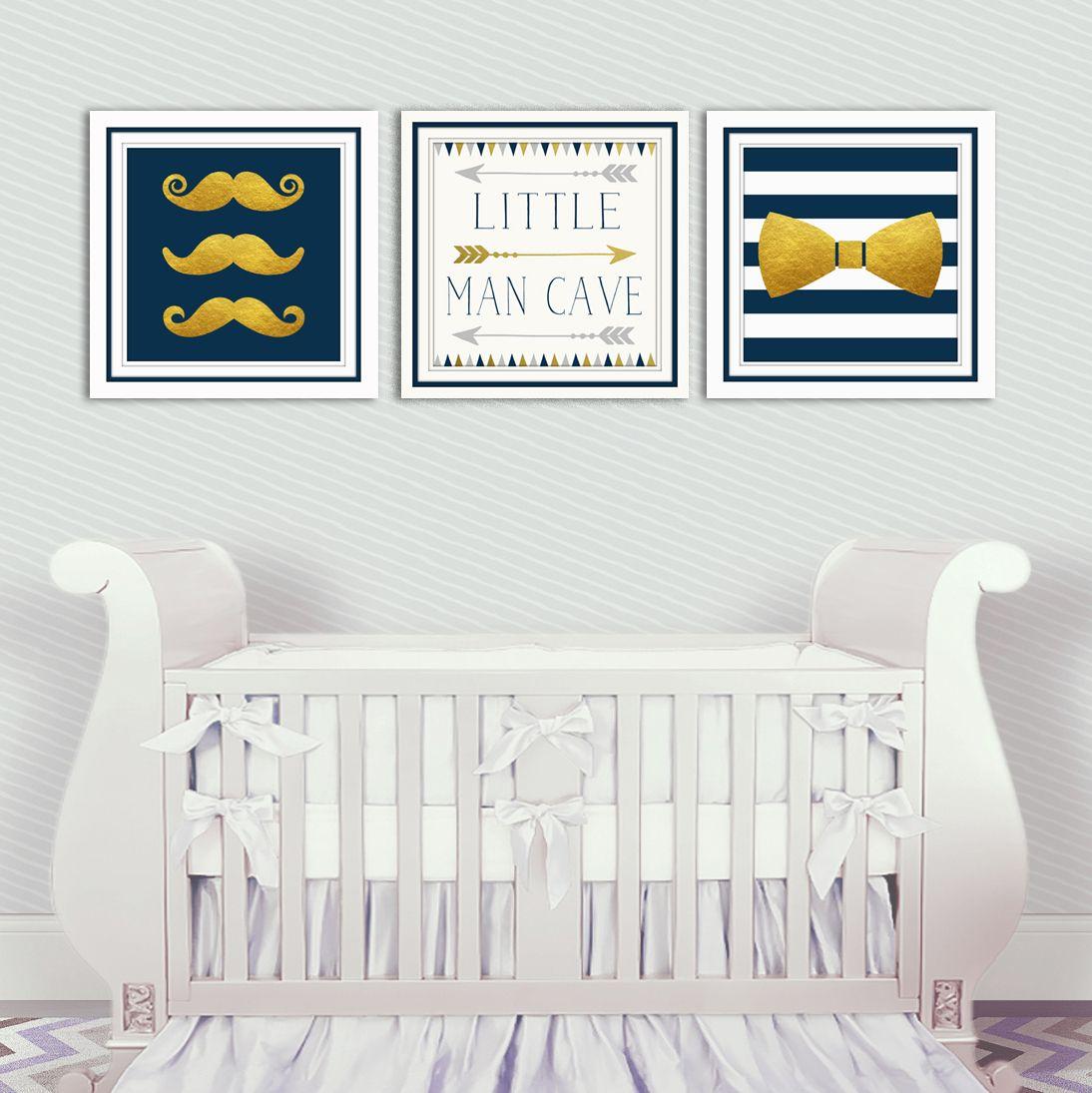 Mustache and Bow Tie Nursery Set | Baby boy nursery decor ...