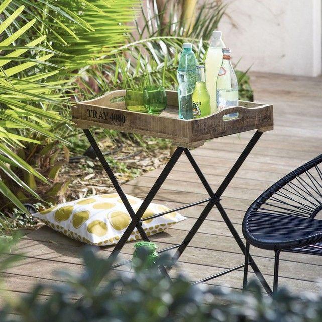 La Redoute Interieurs - Table de jardin pliante, plateau amovible ...