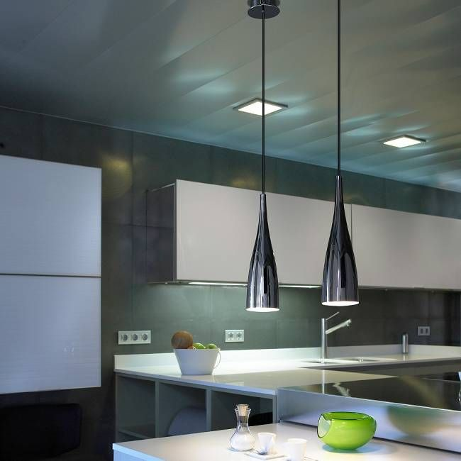 Breakfast Bar Lighting Nice Elegant Slim Pendant Light