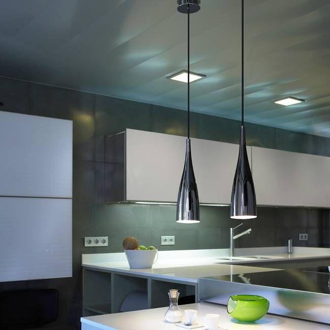 Elegant Slim Pendant Light Chrome Pendant Light Kitchen Kitchen