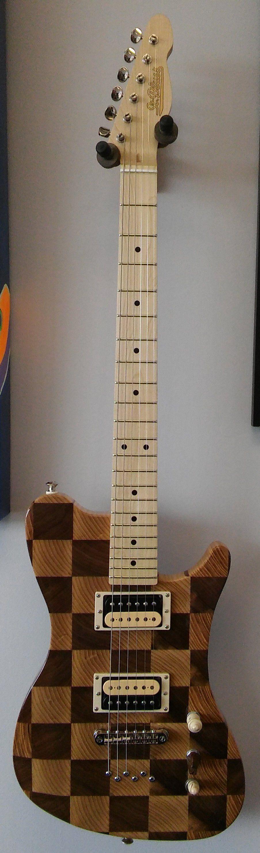 Memphis Edge Custom With Chess Theme | We love guitars in