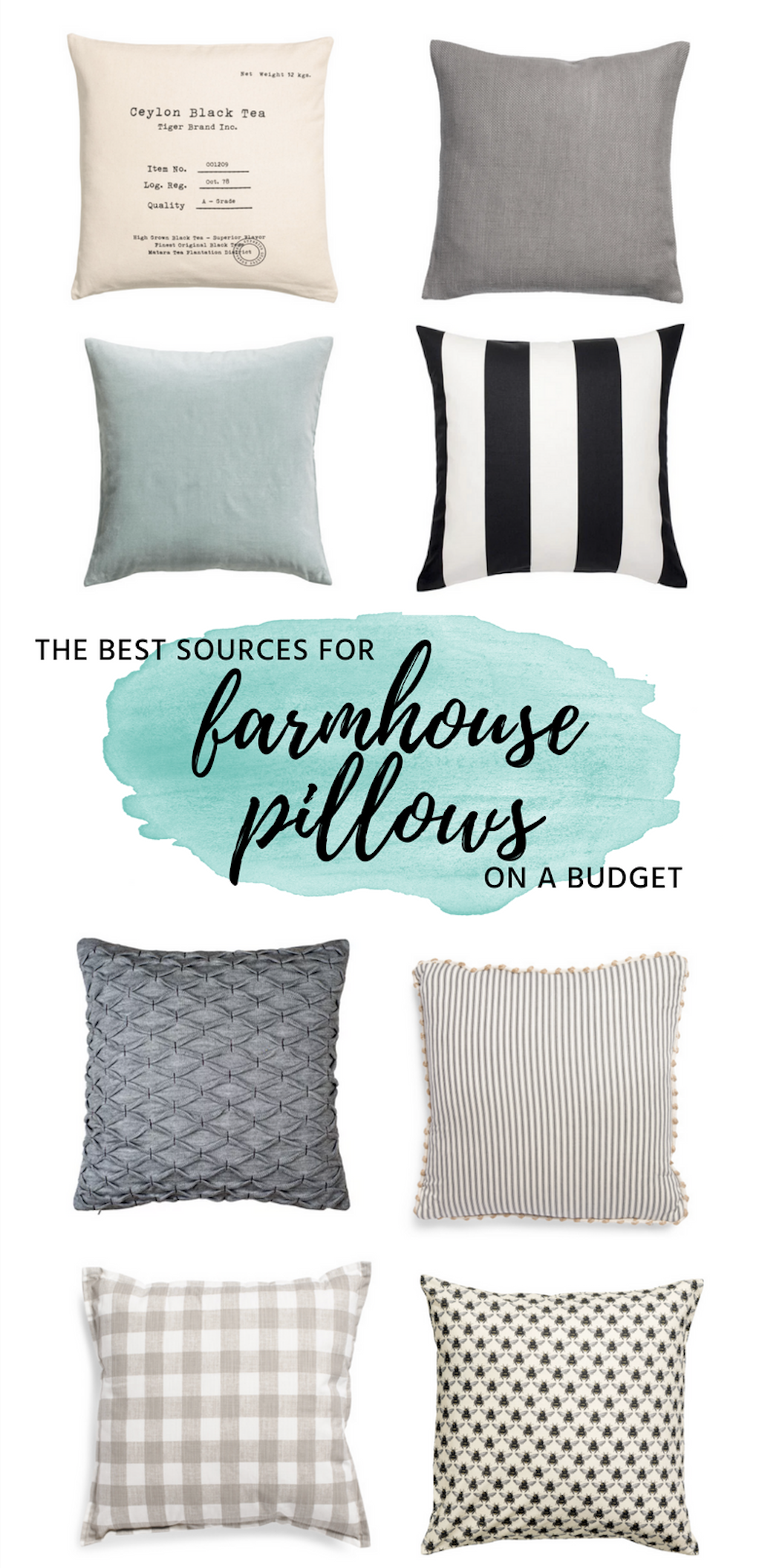 The Best Places To Find Beautiful Throw Pillows On A Budget Beautiful Throw Pillows Pillows Farmhouse Pillows