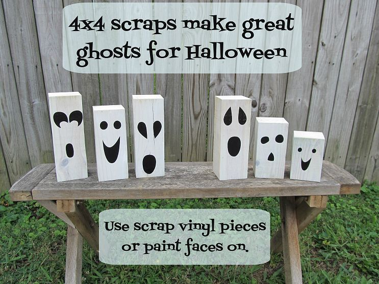 Quick  Easy Halloween Decor Scrap, Woods and Holidays - halloween ghost decor