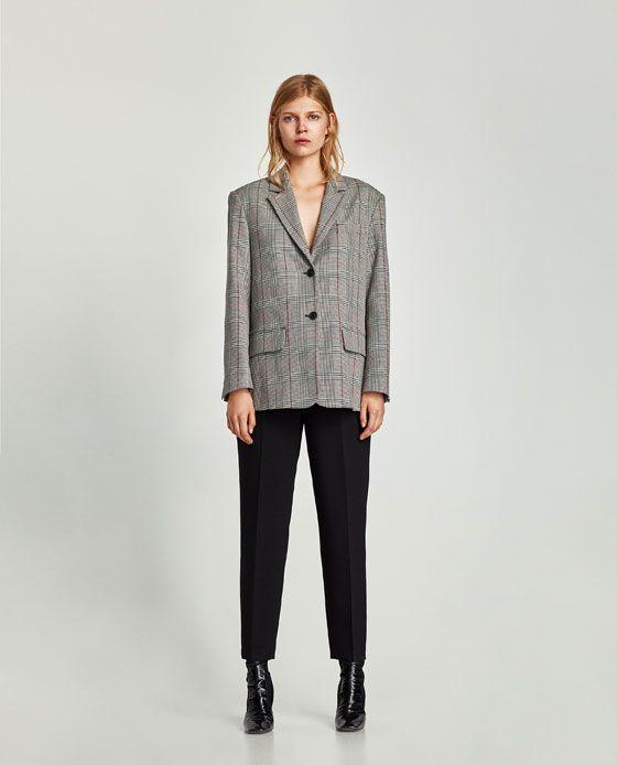 Carreaux A S'habiller Pour Femme Zara Idée Veste qPgx4wT5F5