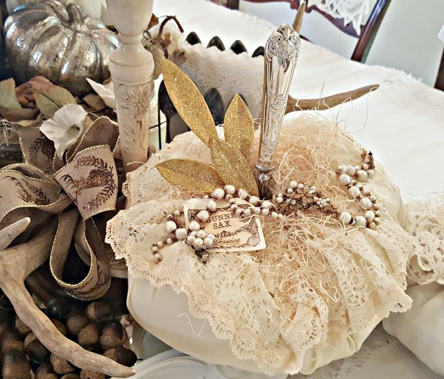 Penny's Vintage Home: Does Your Faux Pumpkin Need a Stem?