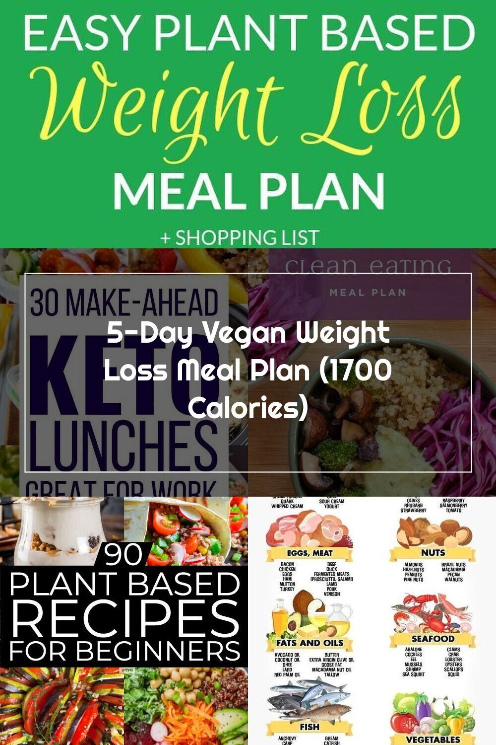Healthy 5 Day Weight Loss Meal Plan For Clean Eating Vegan And Plant Based Diet This Is A Great Meal Plan For Beginners Or To J