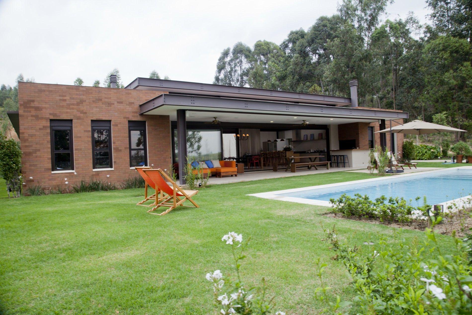 Casa estrutura met lica ef arquitetura a o steel - Casa estructura metalica ...