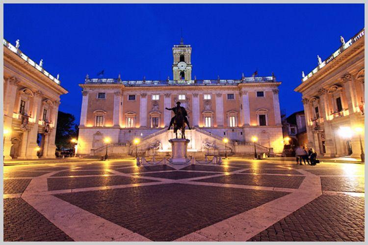 Roma Piazza del Campidoglio Italy by andrea quercioli