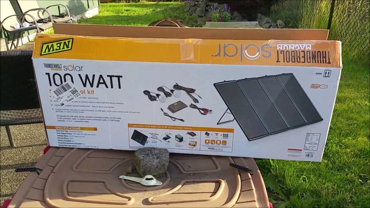 Harbor Freight 100w Solar Kit Full Review Day 1 Solar Technology Solar Kit Solar Power Diy