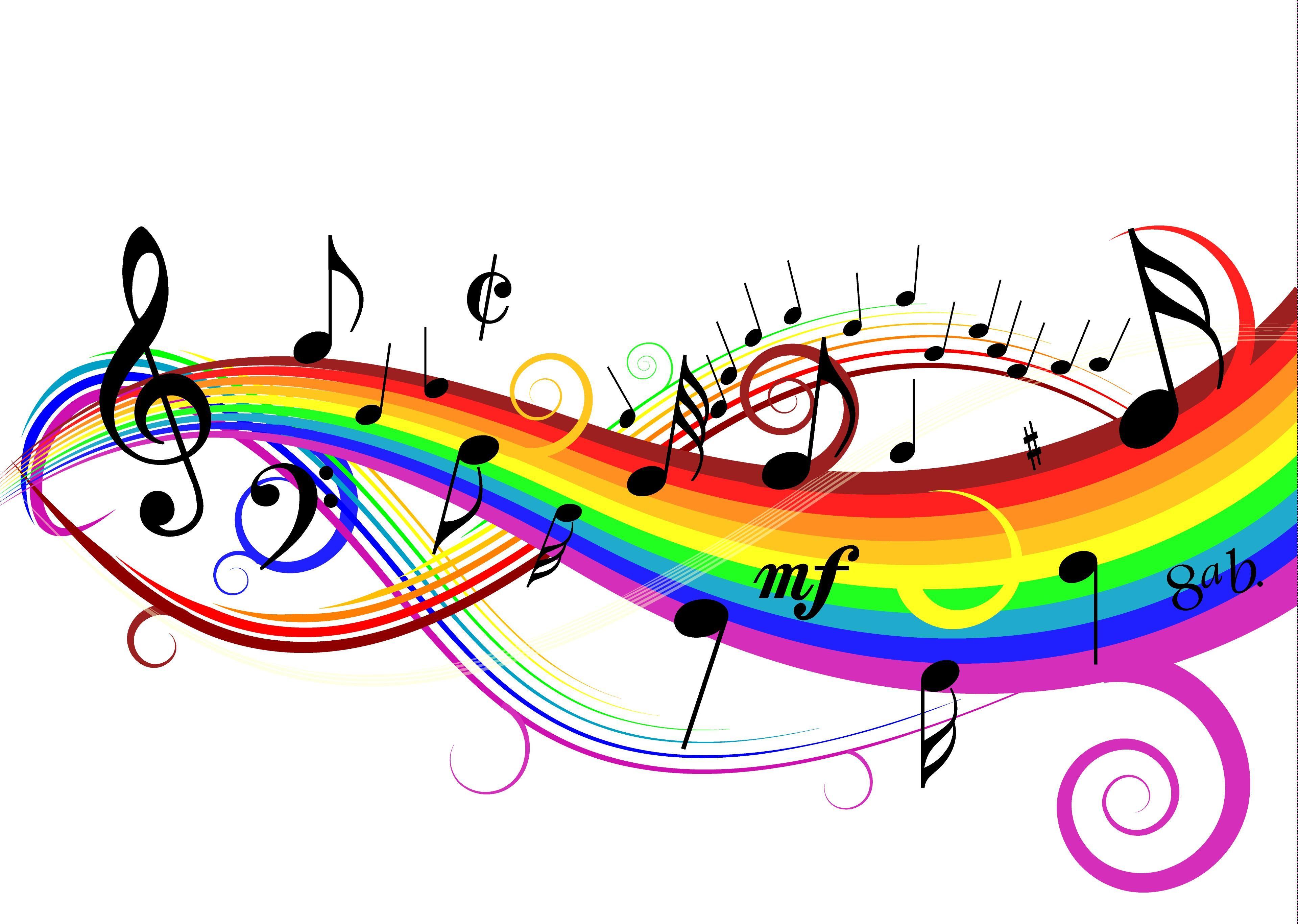 Piano colorful. Music clipart buscar con