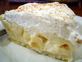 """Banana Cream Pie/""""Easy to make and tastes great! Topped it with 'Never Weep' Whipped Cream and used banana cream pudding dry mix in the topping for extra flavor."""" -Jessica Hoylman"""