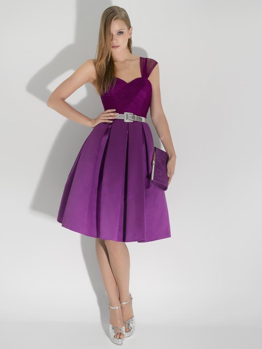 evening dress with sweetheart purple knee length dresses sale ...
