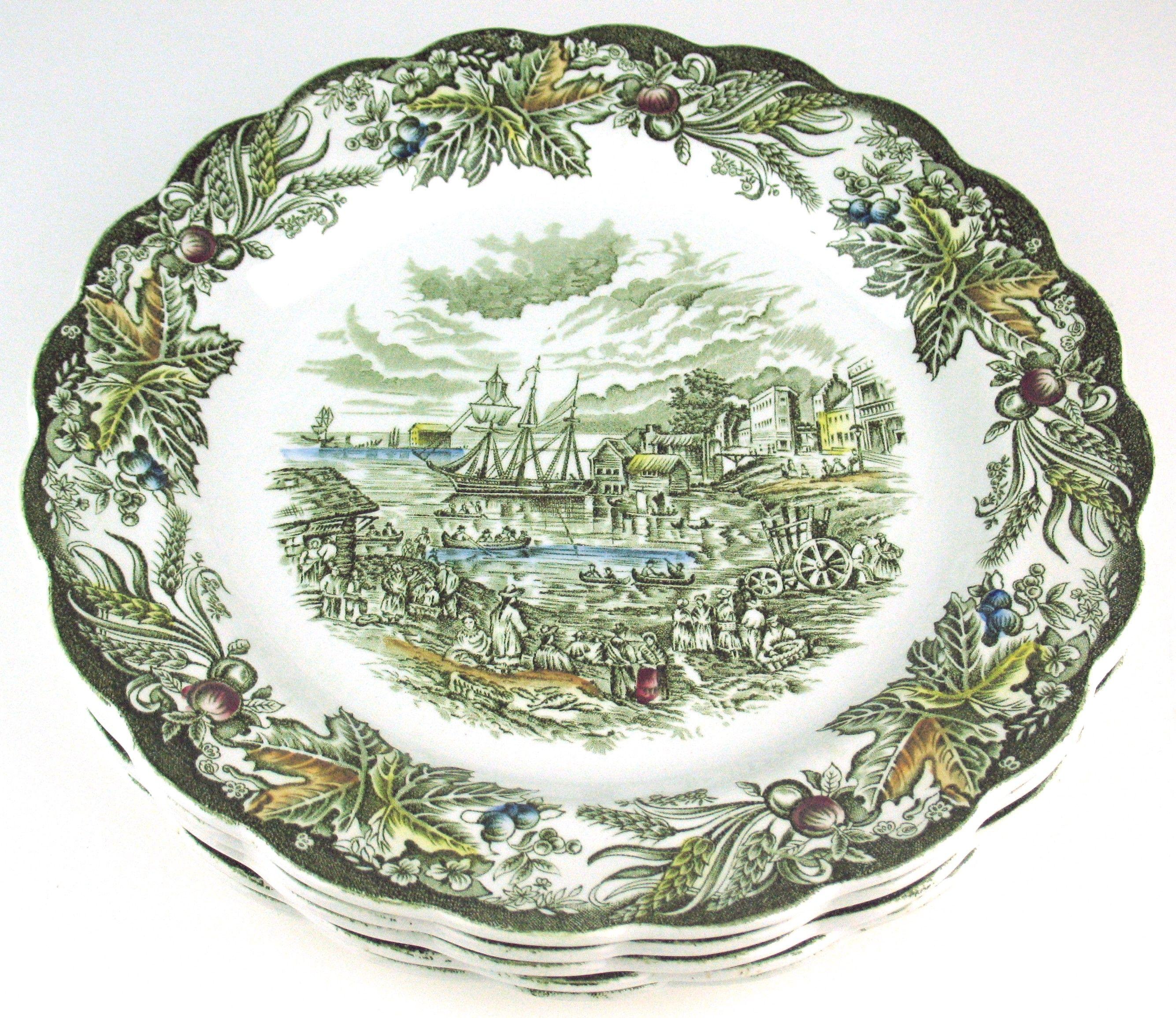 Heritage Pattern by Ridgway Pottery - Dinner plate - 9 - Fish Market Toronto  sc 1 st  Pinterest & Heritage Pattern by Ridgway Pottery - Dinner plate - 9 7/8\