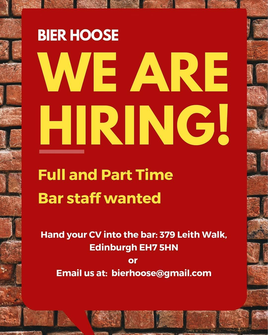 We Are Hiring Full And Part Time Staff Wanted If You Would