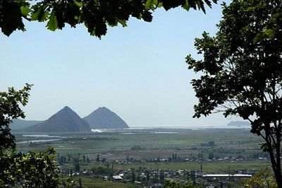 Pyramidal Twin Hills in Nakhodka, Russia