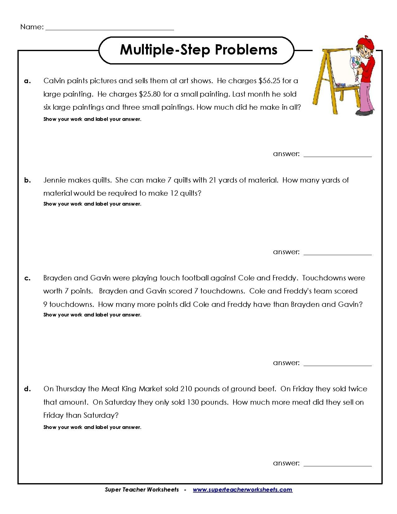 Best 4th Grade Math Worksheet