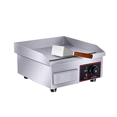Zxmoto Electric Countertop Griddle Grill 110v Commercial