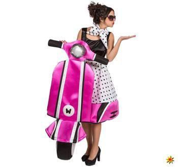 Photo of Damen Kostüm Rockabilly 60er Vespa Rollerfahrerin