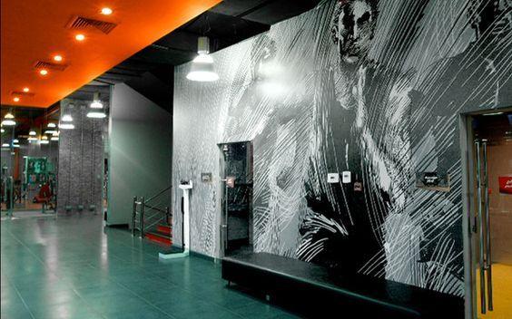 Gym Interior Wall Design Google Search Fitness Center Design