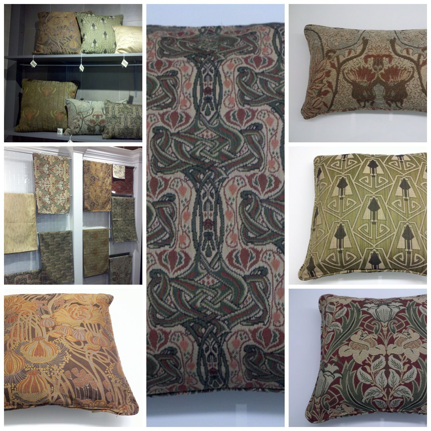 Arts and crafts style bedding - Arts And Crafts Style Fabrics At The Mission Motif