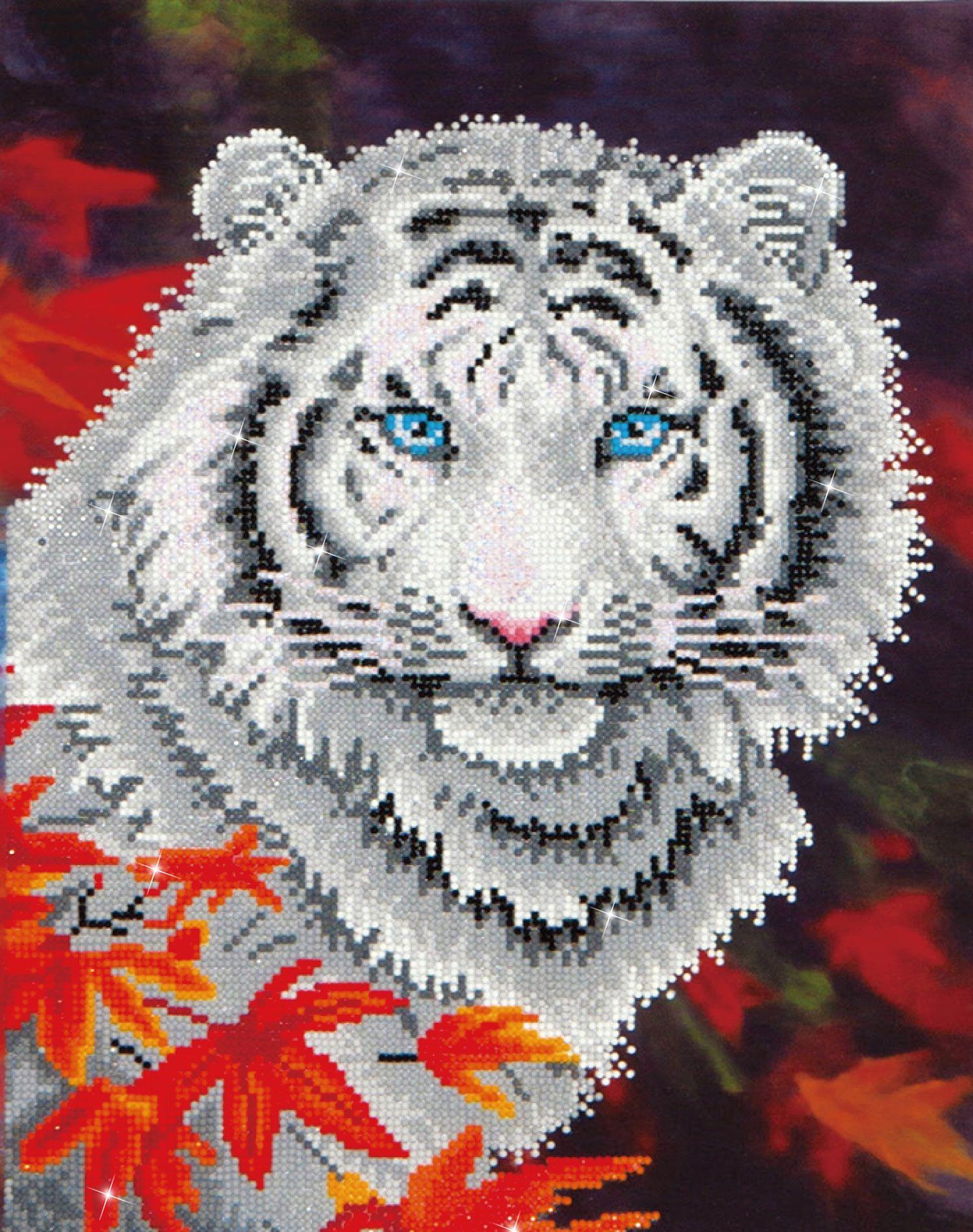 White tiger in autumn u2013 tigre bianca area disegno: cm 35 5 x 45 7