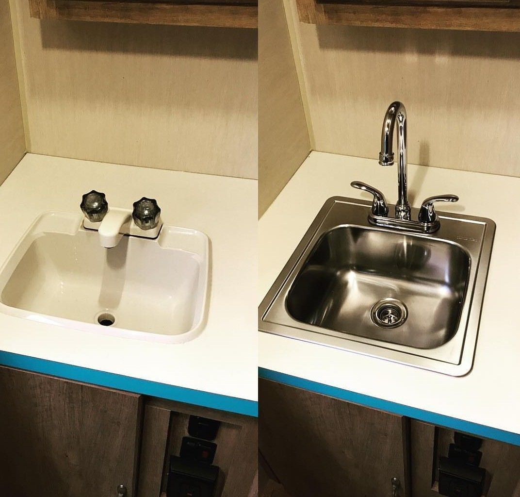 Replace Bathroom Sink Replacebathroomsink Replace Bathroom Faucet Bathroom Sink Remodel Replace Bathroom Sink