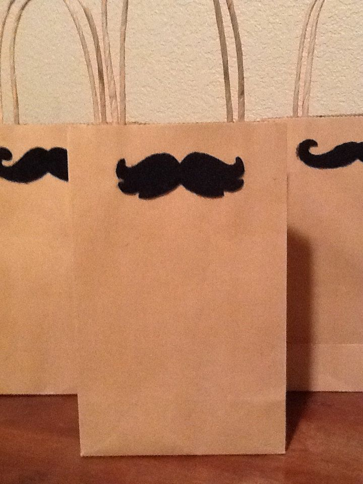 Kraft paper gift bags 1 small bag mustache gift wrap for men kraft paper gift bags 1 small bag mustache gift wrap for men easter negle Gallery