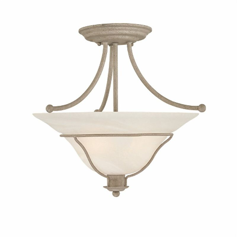 High Quality Thomas Lighting M2859 90 Sonoma Collection 2 Light Semi Flush Ceiling  Fixture In Weathered Silver Design