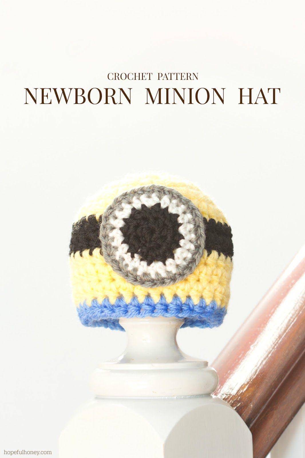Newborn Minion Inspired Hat | Babies | Pinterest | Gorros, Gorros ...