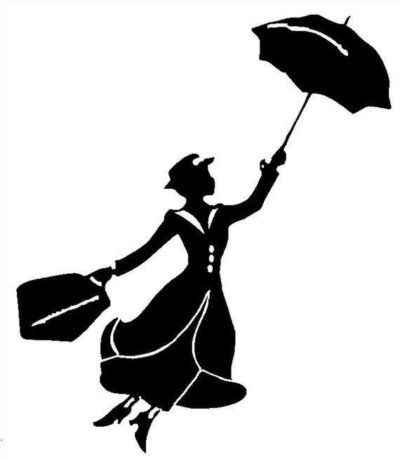 Mary Poppins, Nanny Vinyl Decal Sticker Car Window
