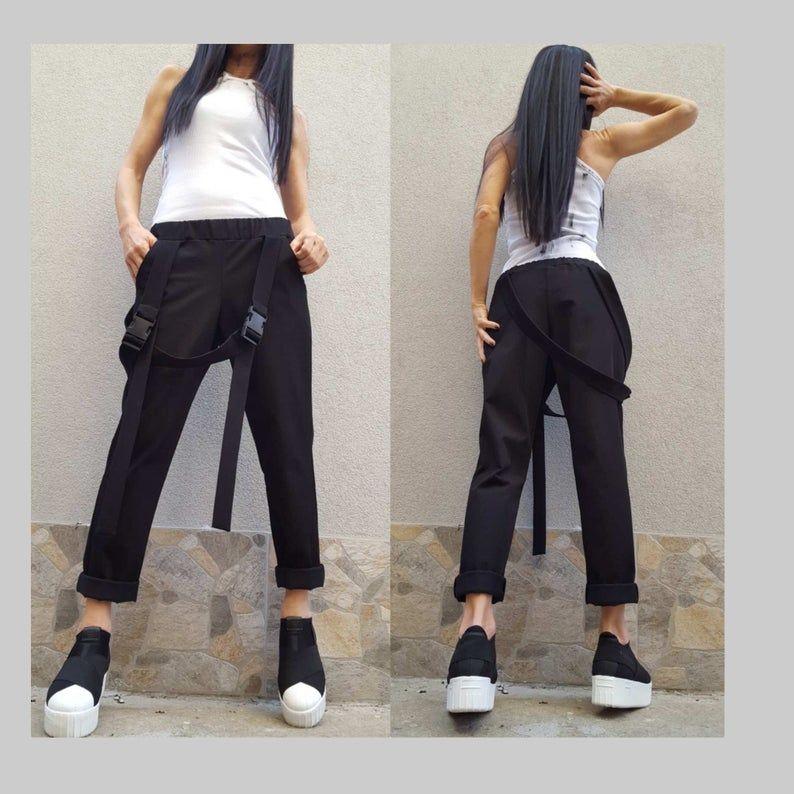 Extravagant Black Pants Plus Size Women Pants Drop Crotch Women Pants Casual Cotton Pants Harem Pants Women Urban Pants Wide Leg Pants In 2020 Pants For Women Plus Size Women Plus Size