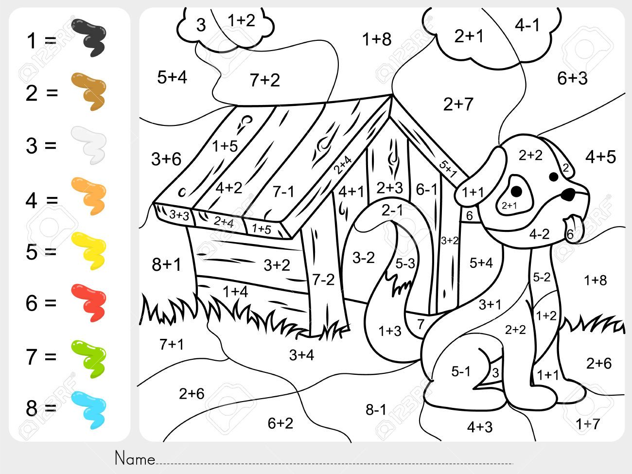 60530798-Paint-color-by-addition-and-subtraction-numbers-Worksheet ...