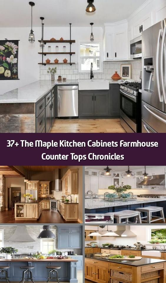 37 the maple kitchen cabinets farmhouse counter tops chronicles things you in 2020 kitchen on farmhouse kitchen maple cabinets id=23716