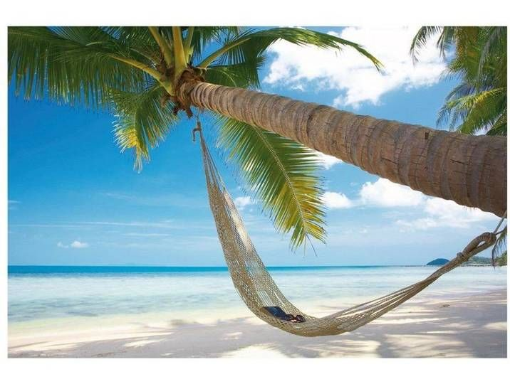 Bilderwelten Vliestapete »Verschiedene Top Strandmotive«, bunt, Relaxing Day, 290x432 cm Vlies-Selbstklebend, Farbig #fondecranhiver