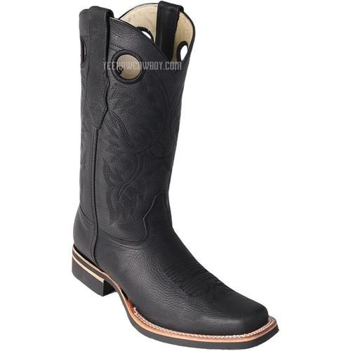 14447b400a0 Men's Los Altos Square Toe Boots With Rubber Sole Handcrafted in ...