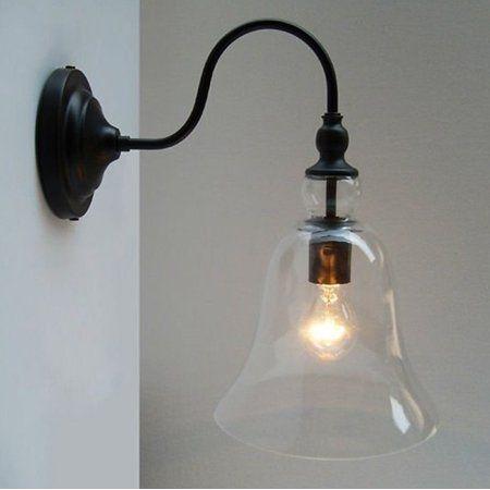 Lillium 1 Light Clear Glass Edison Wall Lamp With Bulb Walmart Com Wall Lamp Wall Lights Lamp