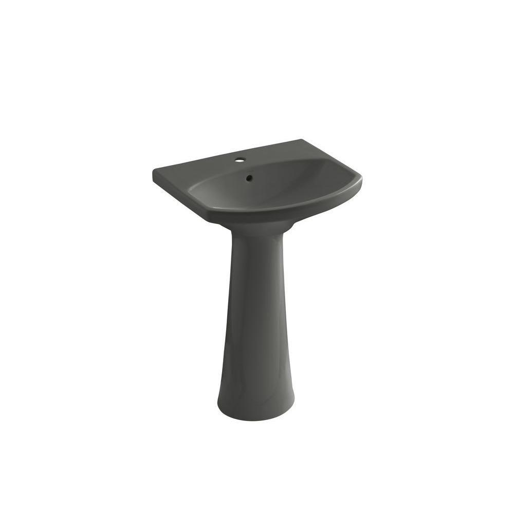 Kohler Cimarron Single Hole Vitreous China Pedestal Combo Bathroom