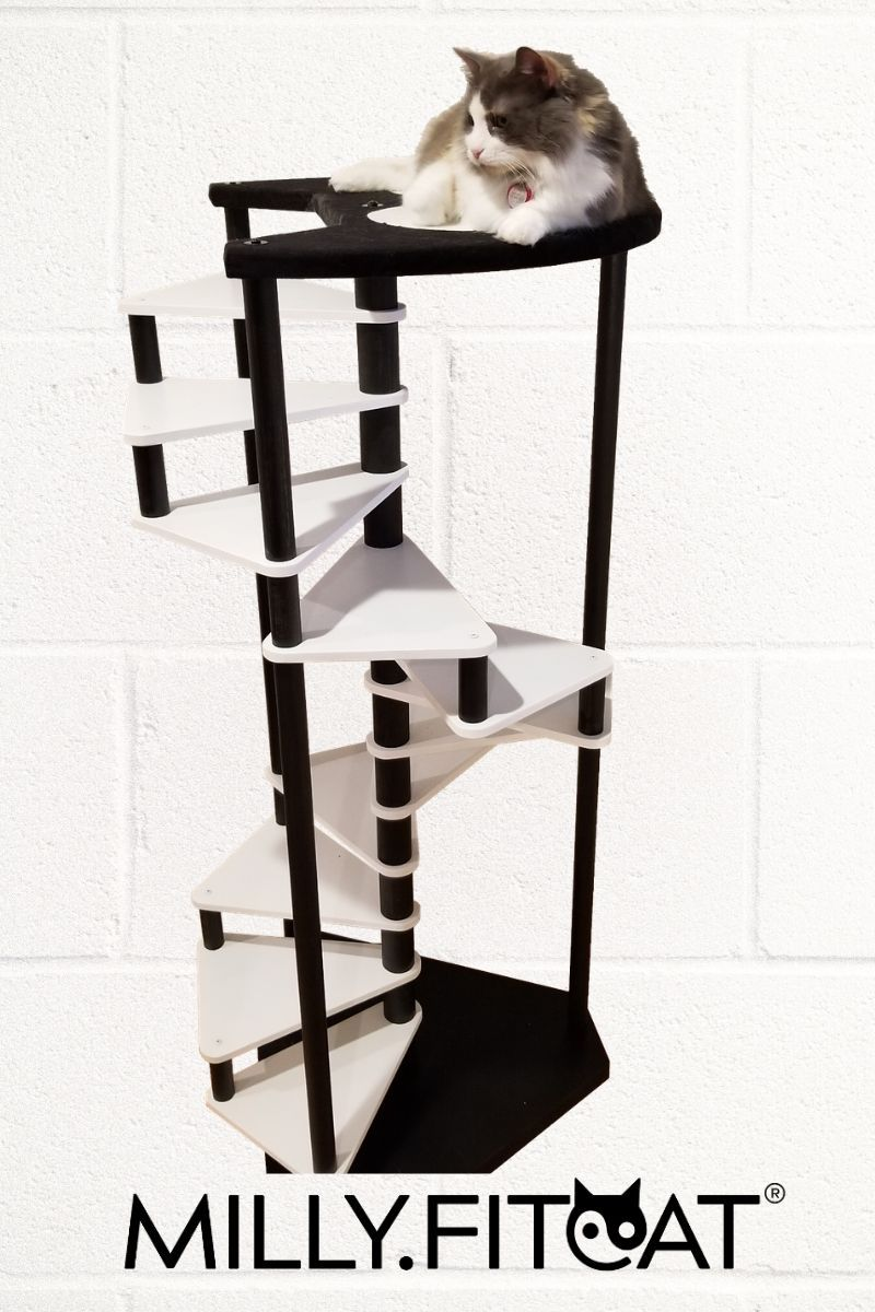 Cat Tree 12 Step Spiral Cat Furniture Best Cat Stairs Etsy In 2020 Cat Stairs Cat Tree Cool Cats