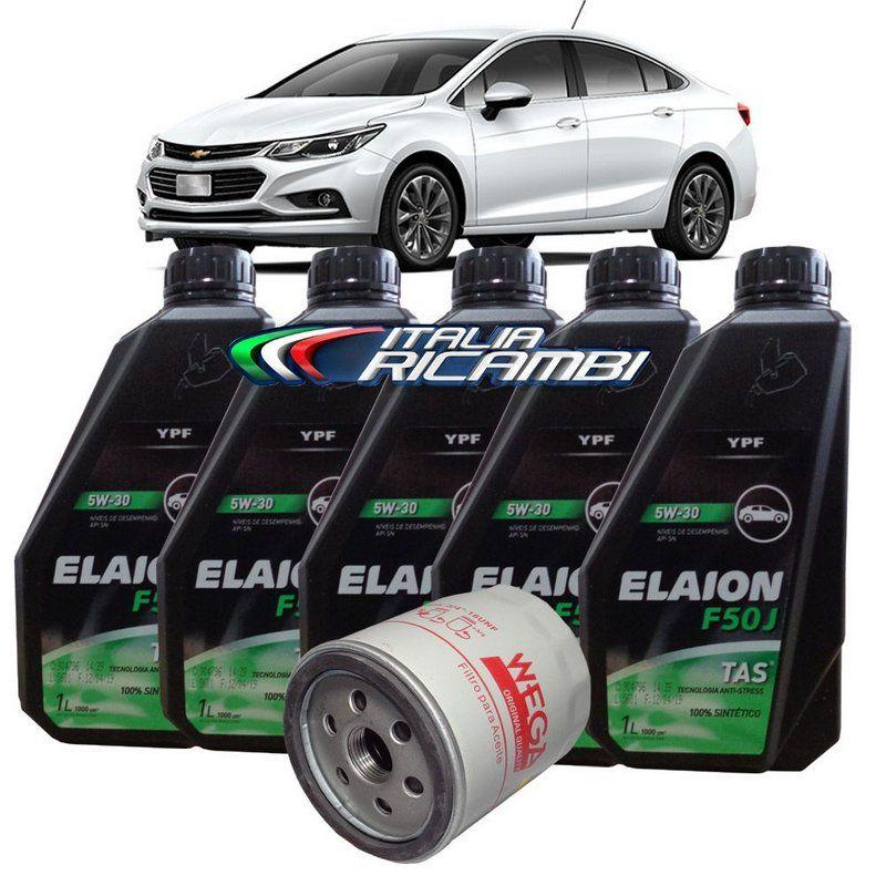 Kit Troca De Oleo 5w30 Elaion E Filtro De Oleo Gm Cruze 1 4 16v Lt Ltz Turbo De 2017 Em Diante Em 2020 Chevrolet Cruze General Motors Filtro