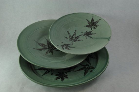 Japanese Momiji Plates! I love the Japanese Maple leaf print!