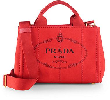 e99158447 Prada Logo-Print Small Canvas Tote on shopstyle.com Prada Messenger Bag,  Prada
